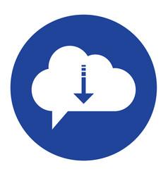 Cloud download icon computing concept vector