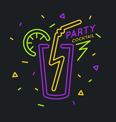cocktail party in bright cartoon style vector image