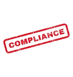 Compliance Text Rubber Stamp vector