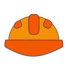 Construction helmet design vector