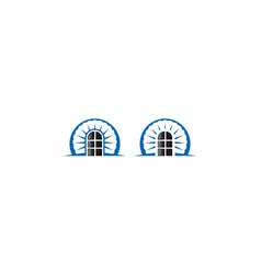 door logo icon success vector image