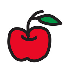 draw apple icon vector image