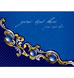 elegant gold vector image
