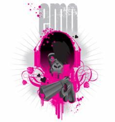 emo gorilla vector image vector image