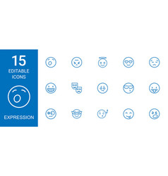 Expression icons vector
