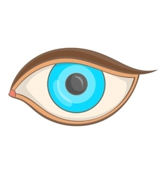 Eye icon cartoon style vector