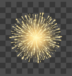 Fireworks festival gold firework vector