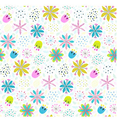 Floral pattern background with flowers and leaves vector