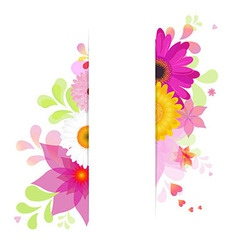 Flower Background With Gerbers vector