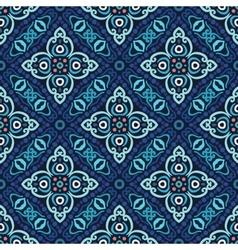 Flower Pattern Blue Weave vector