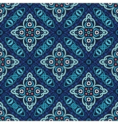 Flower Pattern Blue Weave vector image