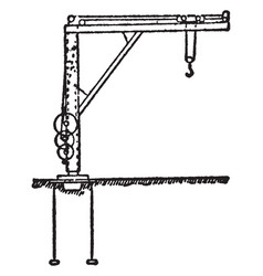 foundry crane vintage vector image