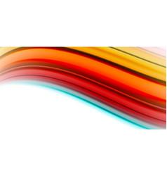 Gel jelly fluid flowing liquid rainbow style vector