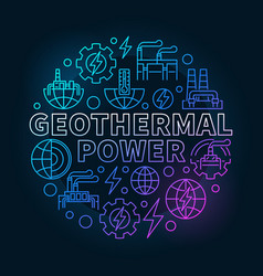 Geothermal power colorful vector