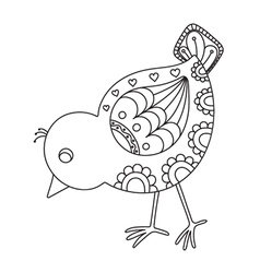 Hand drawn chick vector