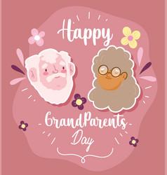 Happy grandparents day cute grand grandma faces vector