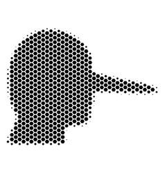 Hexagon halftone lier icon vector