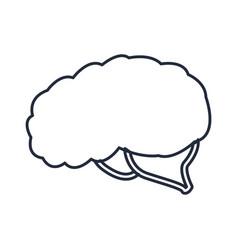 Human brain organ creative idea think vector