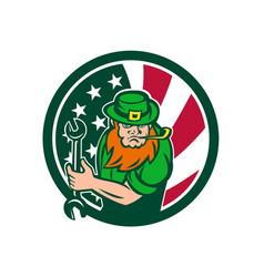 irish-american mechanic usa flag icon vector image