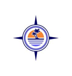 island compass archipelago concept logo icon vector image
