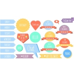 Isolated decorative design elements stickers vector