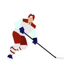 isolated sportsman hockey player on a white vector image