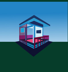 isometric of building vector image