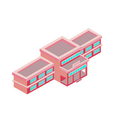 isometric school on a white background vector image