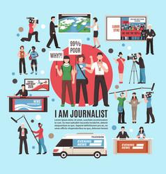 Journalist profession composition vector