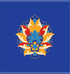 Khataye flowers in iranian illuminated manuscript vector