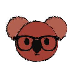 koala face vector image