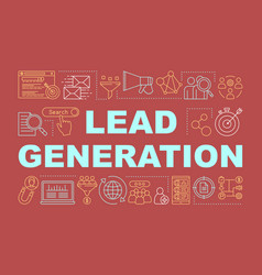 Lead generation word concepts banner digital vector