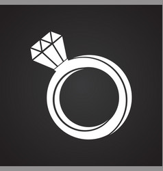 love ring on black background vector image