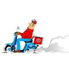 Man on a scooter vector