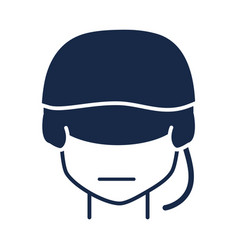 memorial day soldier with helmet character vector image