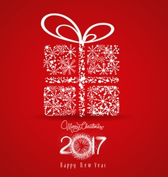 Merry christmas and happy new year 2017 Snowflakes vector