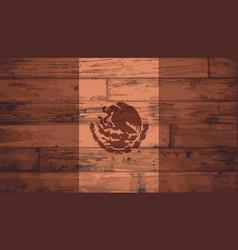 Mexico flag brand vector