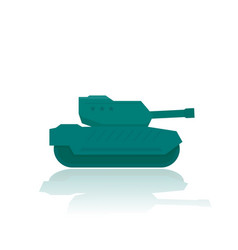 Military tank combat armoured fighting vehicle vector