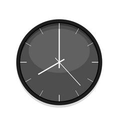Minimalistic black clock icon single isolated vector