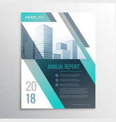 Modern annual report business brochure design vector