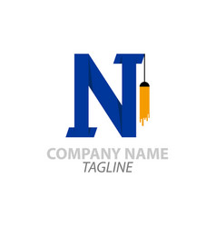 N logo latter can be used for companies vector