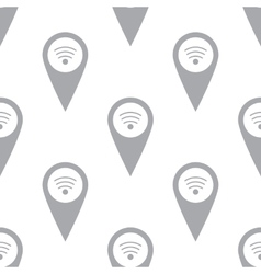 New Wi-fi pointer seamless pattern vector