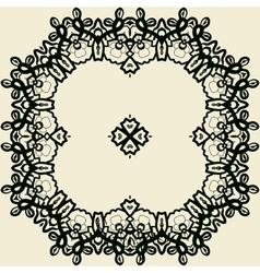 Outlined stylized mandala print vector image