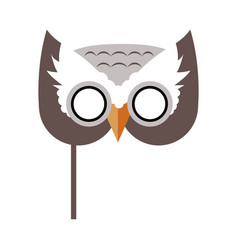owl bird carnival mask childish masquerade element vector image
