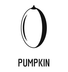 pumpkin seed icon simple style vector image
