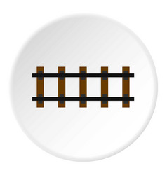 Railway icon circle vector