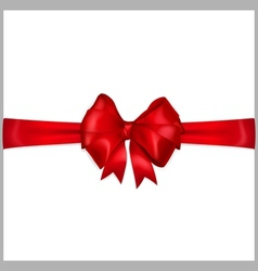 Red bow with horizontal ribbons vector