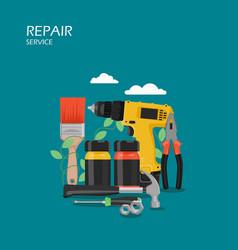 repair service flat style design vector image