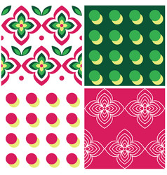 retro geometric midcentury seamless pattern vector image