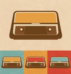 Retro Icons - Old Radio vector